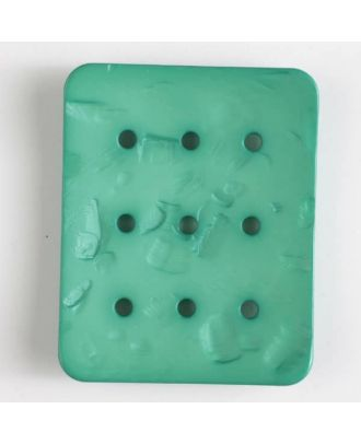polyamide button with  9 holes - Size: 54mm - Color: green - Art.No. 400241