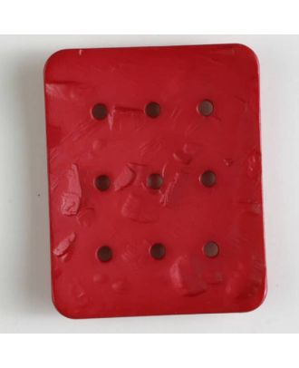 polyamide button with  9 holes - Size: 54mm - Color: red - Art.No. 400242