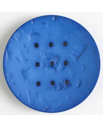 polyamide button with  9 holes - Size: 60mm - Color: blue - Art.No. 410197