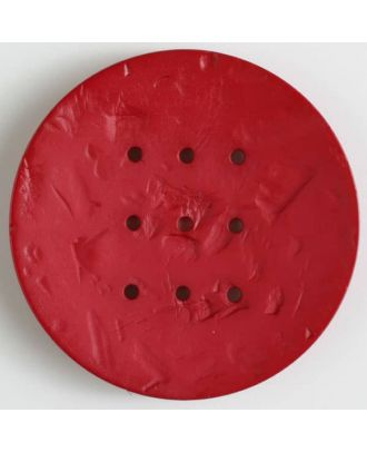 polyamide button with  9 holes - Size: 60mm - Color: red - Art.No. 410201