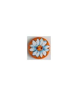 polyamide button 2-holes - Size: 34mm - Color: orange - Art.No. 370566