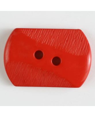 polyamide button with 2 holes - Size: 34mm - Color: red - Art.No. 370607