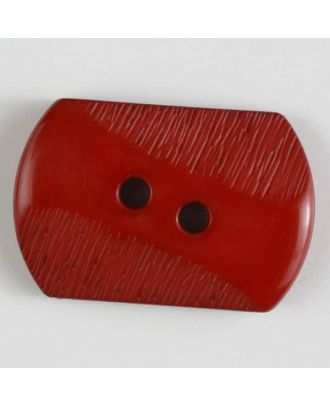 polyamide button with 2 holes - Size: 34mm - Color: orange - Art.No. 377607