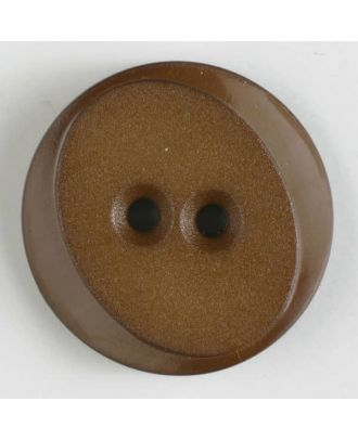 polyamide button with 2 holes - Size: 30mm - Color: brown - Art.No. 347619