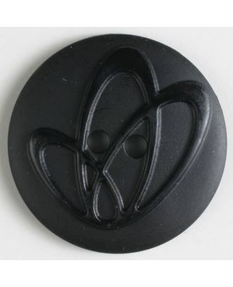 polyamide button with holes - Size: 32mm - Color: black - Art.No. 370629