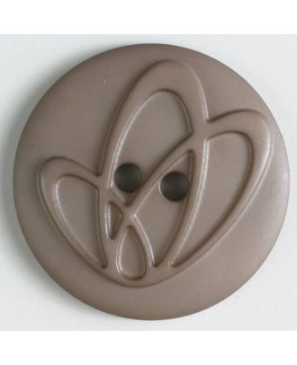 polyamide button with holes - Size: 32mm - Color: brown - Art.No. 378610