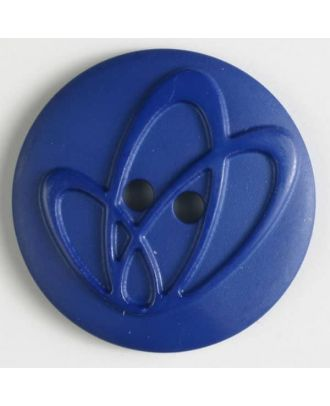 polyamide button with holes - Size: 20mm - Color: blue - Art.No. 268611