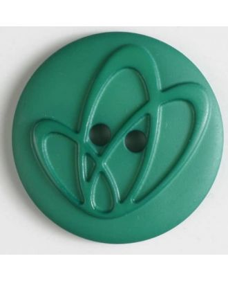 polyamide button with holes - Size: 32mm - Color: green - Art.No. 378613