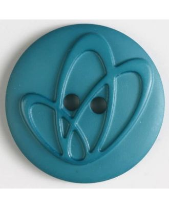 polyamide button with holes - Size: 32mm - Color: green - Art.No. 378614