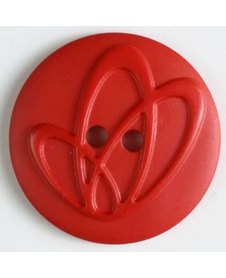 polyamide button with holes - Size: 20mm - Color: red - Art.No. 261221