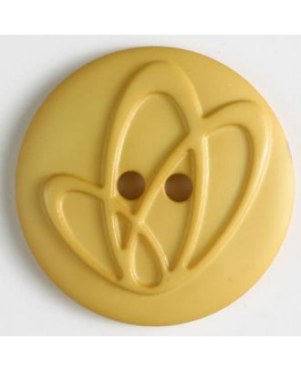 polyamide button with holes - Size: 25mm - Color: yellow - Art.No. 318617