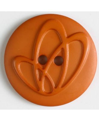 polyamide button with holes - Size: 25mm - Color: orange - Art.No. 318618