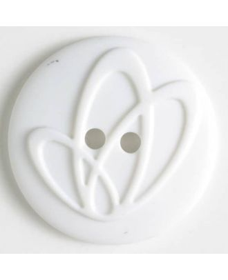 polyamide button with holes - Size: 20mm - Color: white - Art.No. 261218