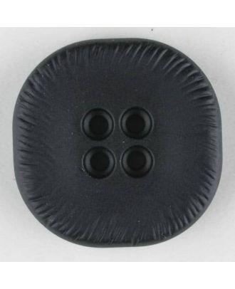 polyamide button, square, 4 holes - Size: 23mm - Color: black - Art.No. 310875