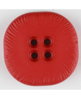 polyamide button, square, 4 holes - Size: 32mm - Color: red - Art.No. 370691