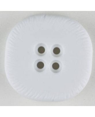 polyamide button, square, 4 holes - Size: 32mm - Color: white - Art.No. 370692