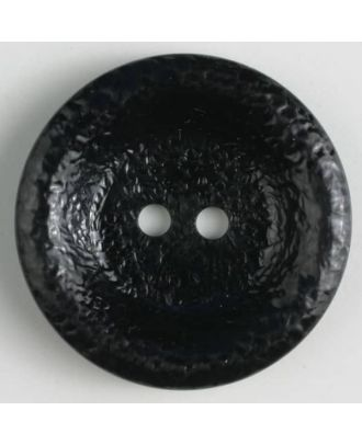 polyamide button, shiny, 2 holes - Size: 34mm - Color: black - Art.No. 370661