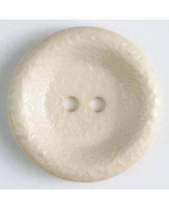 polyamide button, shiny, 2 holes - Size: 25mm - Color: beige - Art.No. 312700