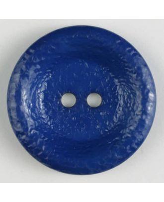 polyamide button, shiny, 2 holes - Size: 25mm - Color: blue - Art.No. 312702