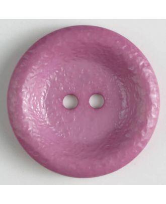 polyamide button, shiny, 2 holes - Size: 25mm - Color: lilac - Art.No. 312703
