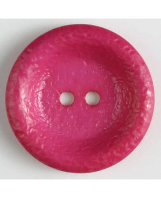 polyamide button, shiny, 2 holes - Size: 34mm - Color: pink - Art.No. 372705