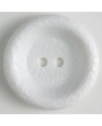polyamide button, shiny, 2 holes - Size: 34mm - Color: white - Art.No. 370660