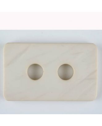 polyamide button, 2 holes - Size: 40mm - Color: beige - Art.-Nr.: 403701