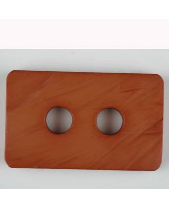 polyamide button, 2 holes - Size: 55mm - Color: brown - Art.-Nr.: 453703