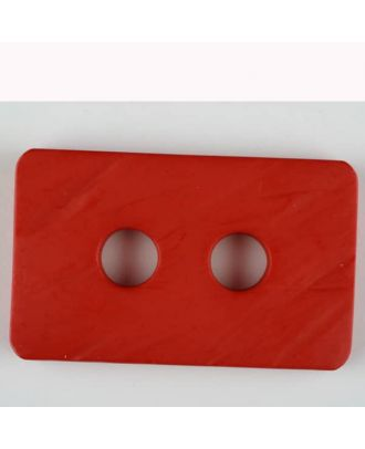 polyamide button, 2 holes - Size: 55mm - Color: red - Art.-Nr.: 453714