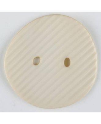 polyamide button, 2 holes - Size: 25mm - Color: beige - Art.-Nr.: 313714