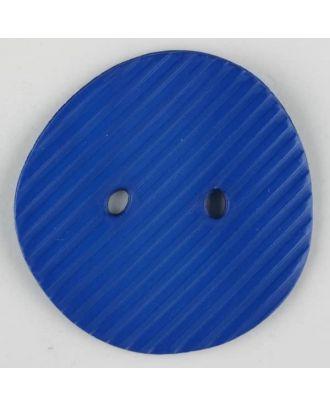 polyamide button, 2 holes - Size: 34mm - Color: blue - Art.-Nr.: 373735