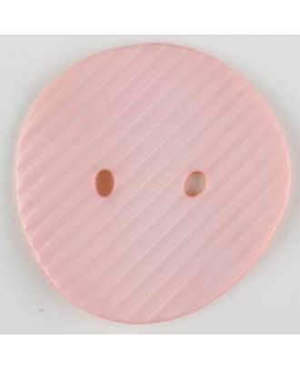 polyamide button, 2 holes - Size: 34mm - Color: pink - Art.-Nr.: 373743