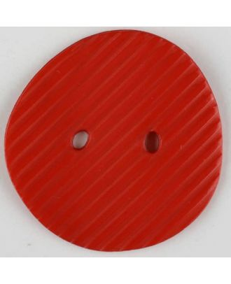 polyamide button, 2 holes - Size: 34mm - Color: red - Art.-Nr.: 373744
