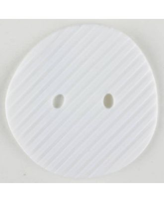 polyamide button, 2 holes - Size: 34mm - Color: white - Art.-Nr.: 370709