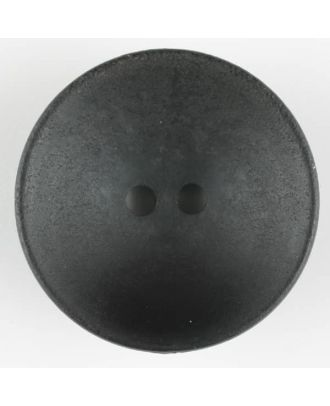 wood button, round, 2 holes - Size: 34mm - Color: black - Art.-Nr.: 370725