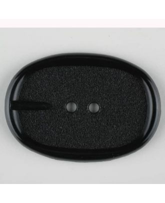 polyamide button, 2 holes - Size: 45mm - Color: black - Art.-Nr.: 420075