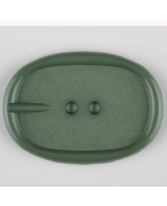 polyamide button, 2 holes - Size: 35mm - Color: green - Art.-Nr.: 373713