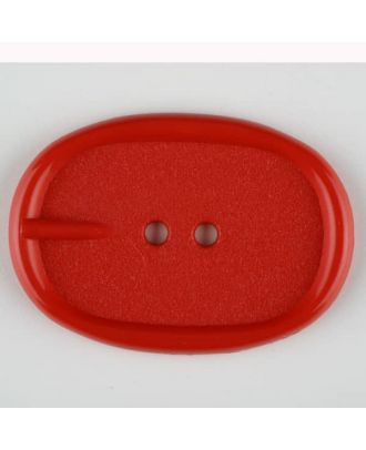 polyamide button, 2 holes - Size: 45mm - Color: red - Art.-Nr.: 423714