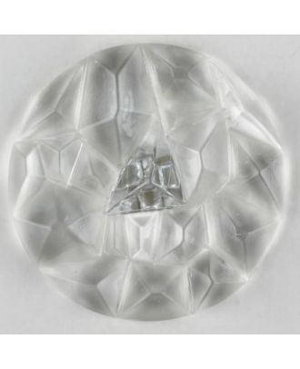 acrylic glass button with shank - Size: 20mm - Color: transparent - Art.-Nr.: 310891