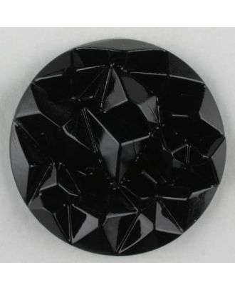 acrylic glass button with shank - Size: 20mm - Color: black - Art.-Nr.: 310901