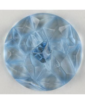 acrylic glass button with shank - Size: 20mm - Color: blue - Art.-Nr.: 313730