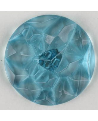 acrylic glass button with shank - Size: 20mm - Color: blue - Art.-Nr.: 313731