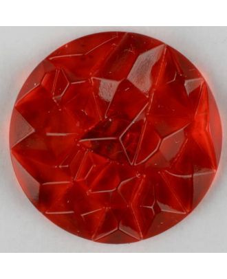 acrylic glass button with shank - Size: 30mm - Color: red - Art.-Nr.: 343716