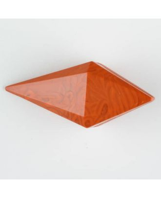 polyamide button, toggle with shank - Size: 42mm - Color: orange - Art.-Nr.: 424709