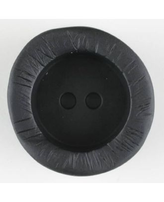 polyamide button, round, 2 holes - Size: 20mm - Color: black - Art.-Nr.: 310917