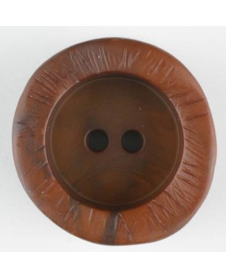 polyamide button, round, 2 holes - Size: 20mm - Color: brown - Art.-Nr.: 314726