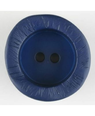 polyamide button, round, 2 holes - Size: 20mm - Color: blue - Art.-Nr.: 314727