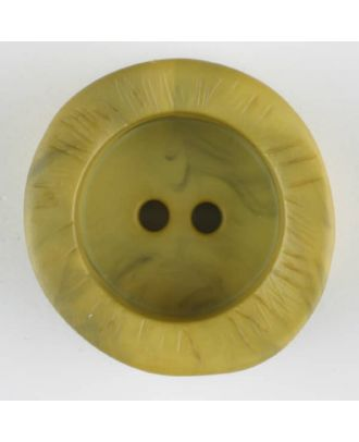 polyamide button, round, 2 holes - Size: 30mm - Color: green - Art.-Nr.: 344717