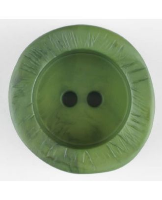 polyamide button, round, 2 holes - Size: 30mm - Color: green - Art.-Nr.: 344719