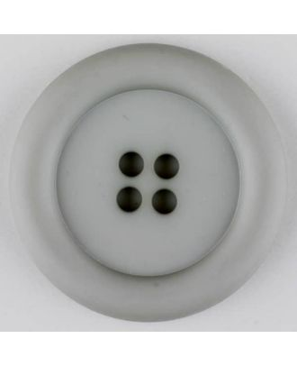polyamide button, round, 4 holes - Size: 20mm - Color: grey - Art.No. 265715